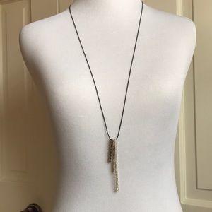 BananaRepublic Black Sticks & Stones Long Necklace